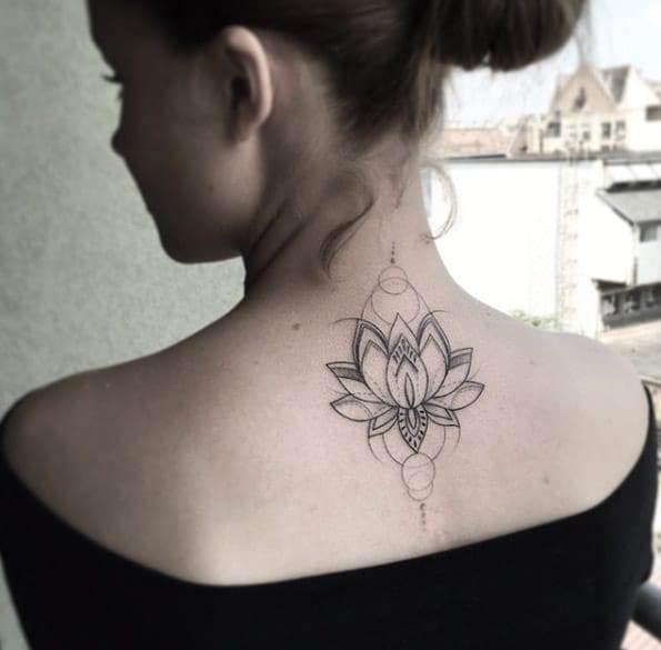 Geometric Lotus Flower by Balazs Bercsenyi