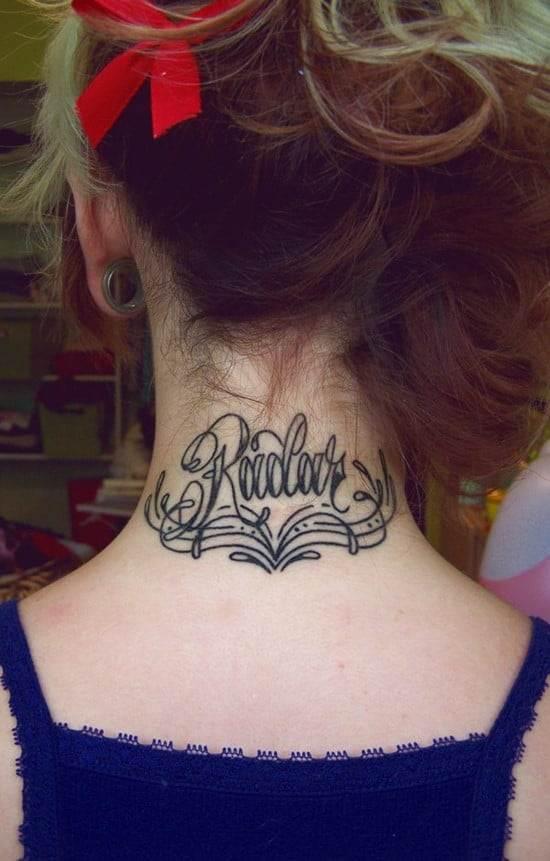 7-Font-Tattoo-on-neck