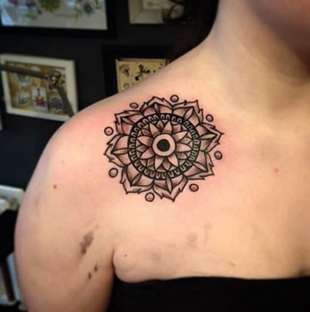 Symmetrical Shoulder Tattoo by Crooked Mile