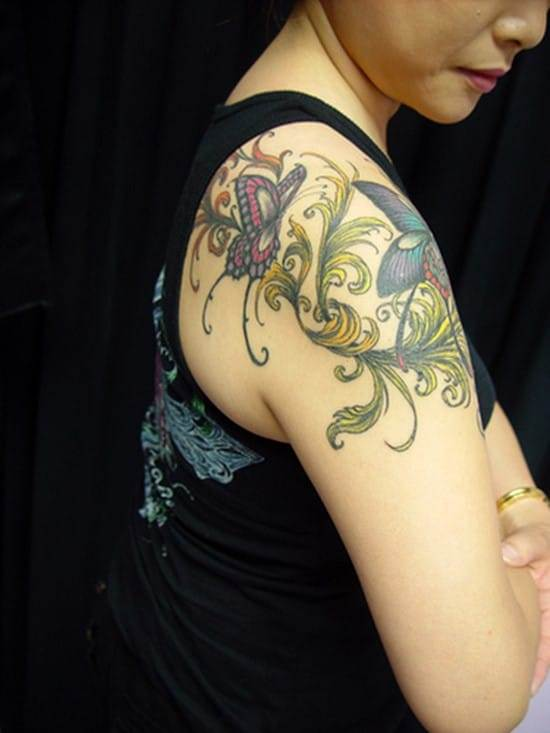 butterflies-tattoo-on-shoulder