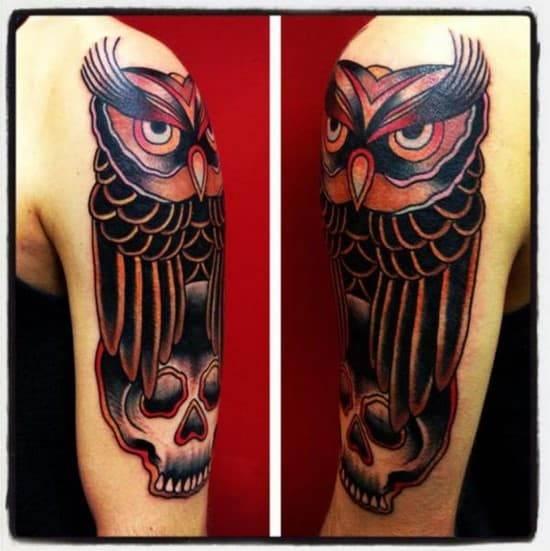 tattoo-shoulder-old-school-owl