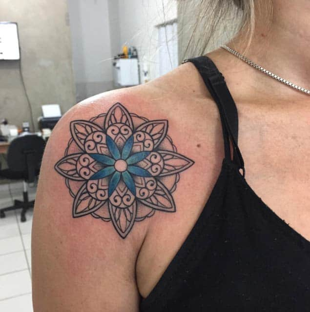 Mandala Shoulder Tattoo by Paulinho