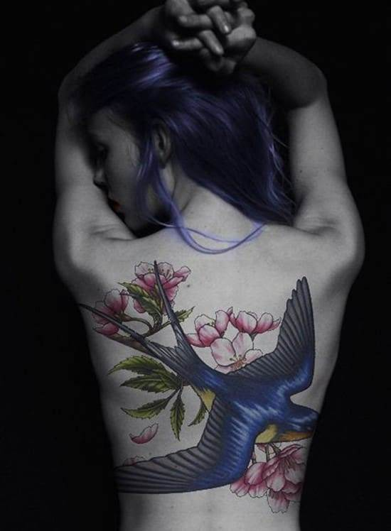 3-swallow-and-flower-tattoo