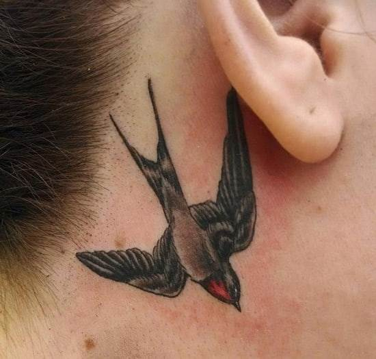33-swallow-tattoo-behind-the-ear