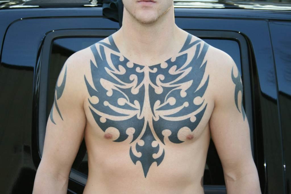 Tribal Tattoos for Men On Chest