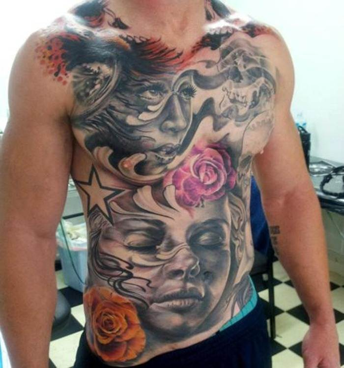 Full Chest tattoo
