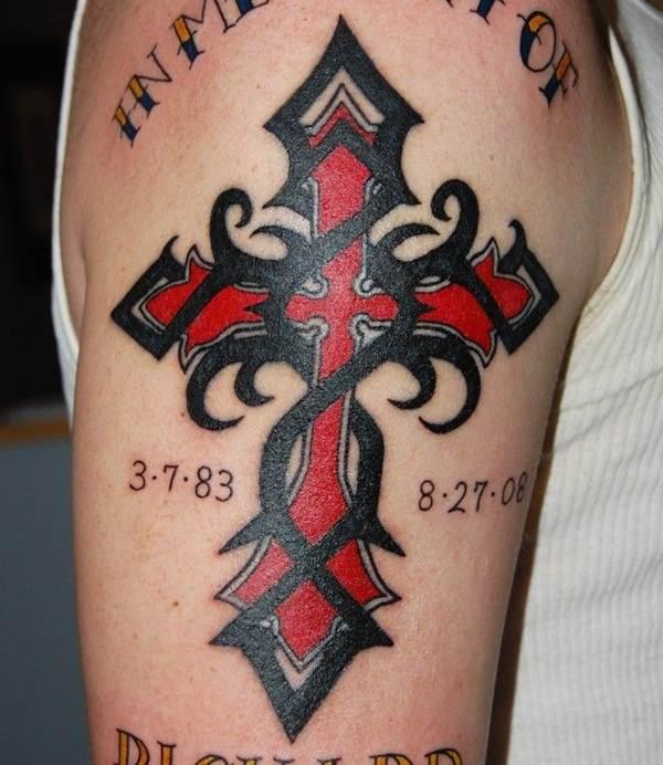 Cross Tattoos for Men (1)