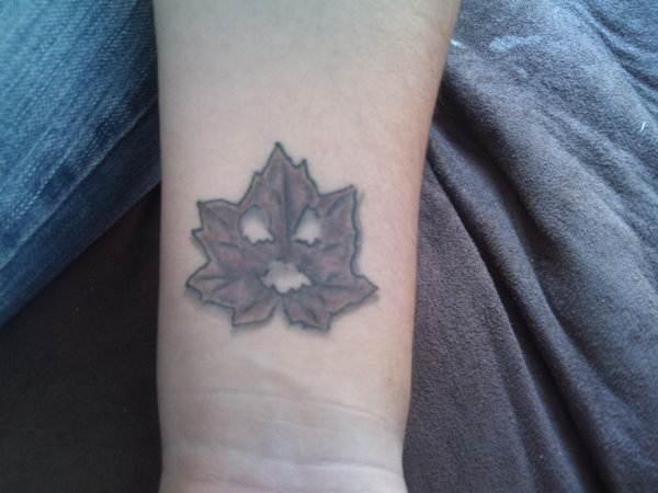 Scary Leaf Tattoo