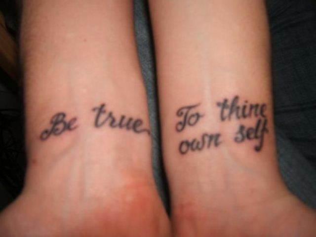 Text Tattoo on Wrist