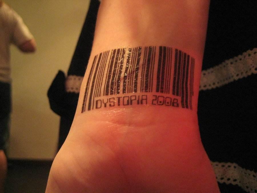 Barcode Tattoo on Wrist