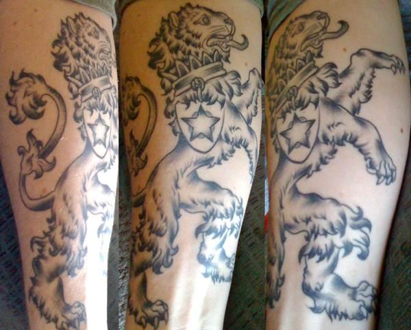 Bohemian Lion Tattoo