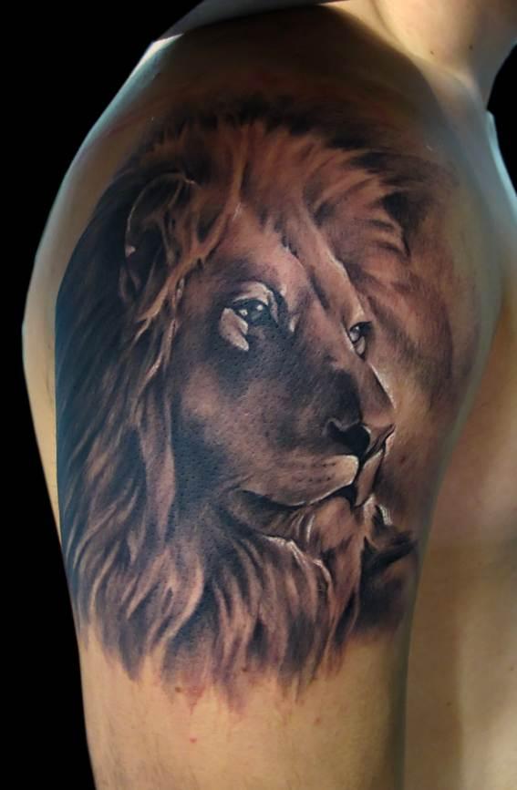Arm Lion Tattoo Design