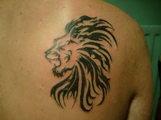 Shoulder Lion Tattoo