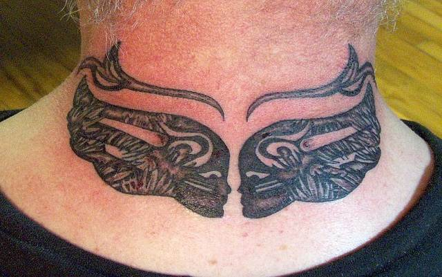 Breast Cancer Memorial Tattoo on Neck