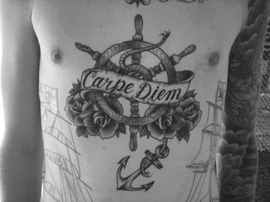 stomach-tattoo-carpe-diem
