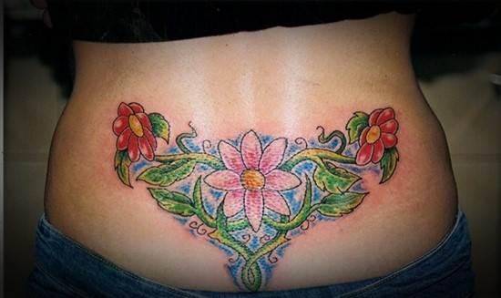 lower back tattoo on woman