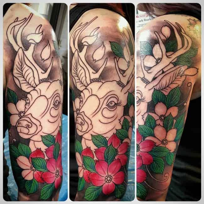 deer tattoos (4)