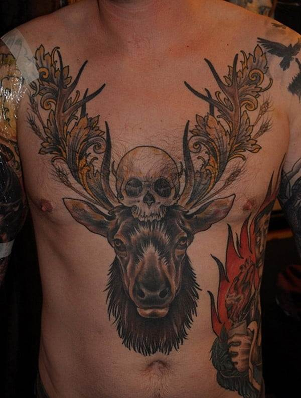 30-Deer-and-Skull-Tattoo-for-Men