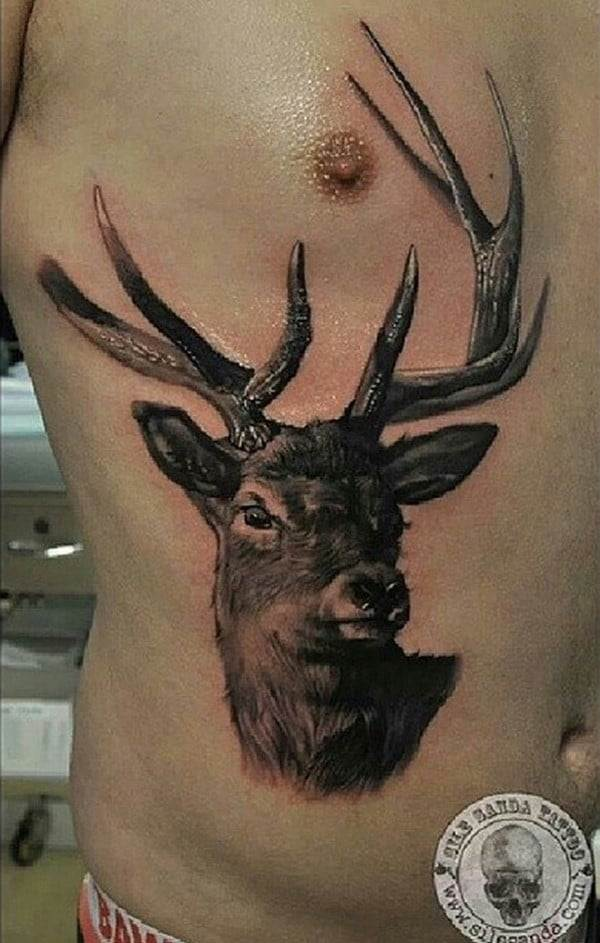 42-3D-Deer-Tattoo