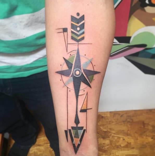 Geometric Arrow Tattoo by Karl Marks