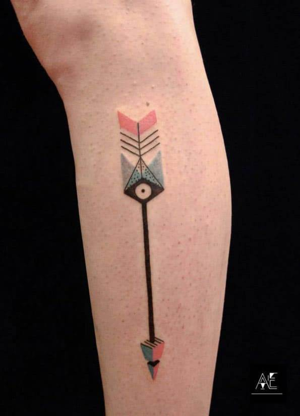 Abstract Arrow Tattoo by Alex Ejsmont