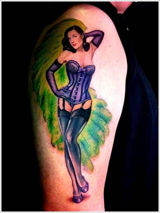 pin up tattoo art