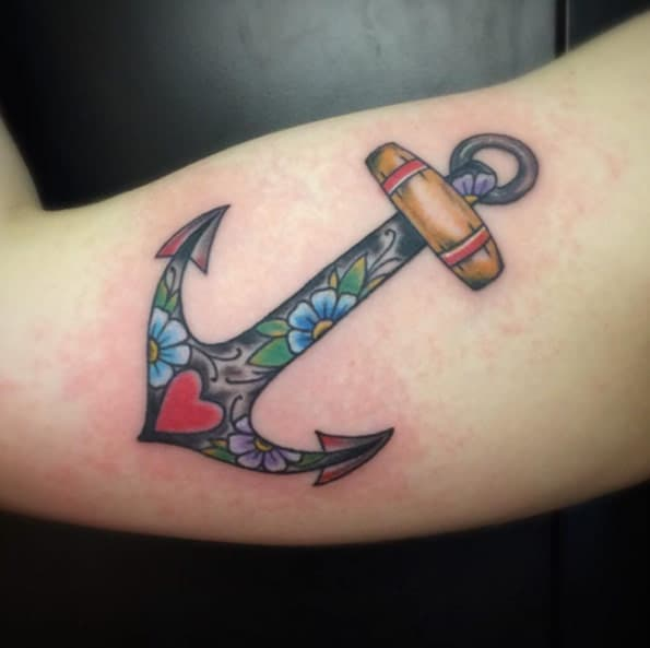 Neo Traditional Anchor Tattoo by Keath Supsic