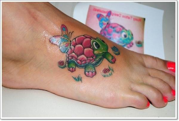 turtle-tattoo-on-foot