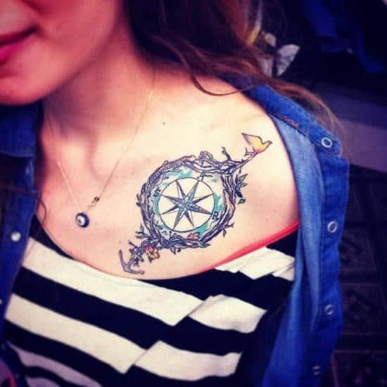 46-anchor-and-compass-collar-bone