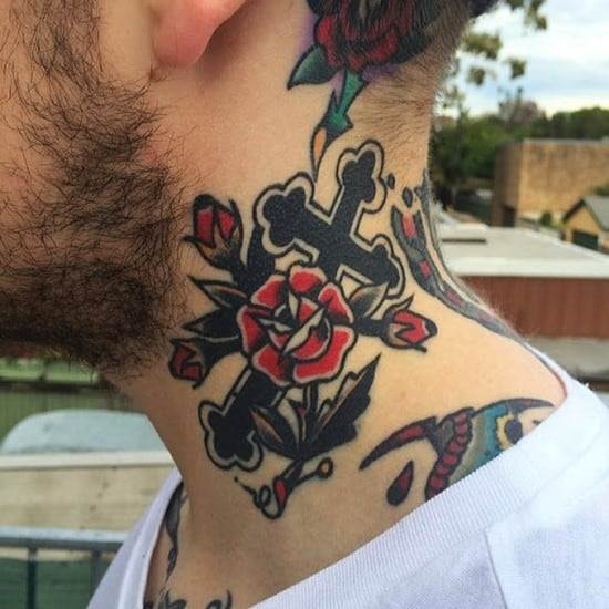 Cross tattoos designs ideas men women best (39)