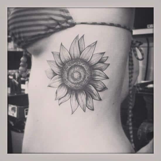 sunflower-tattoo-side