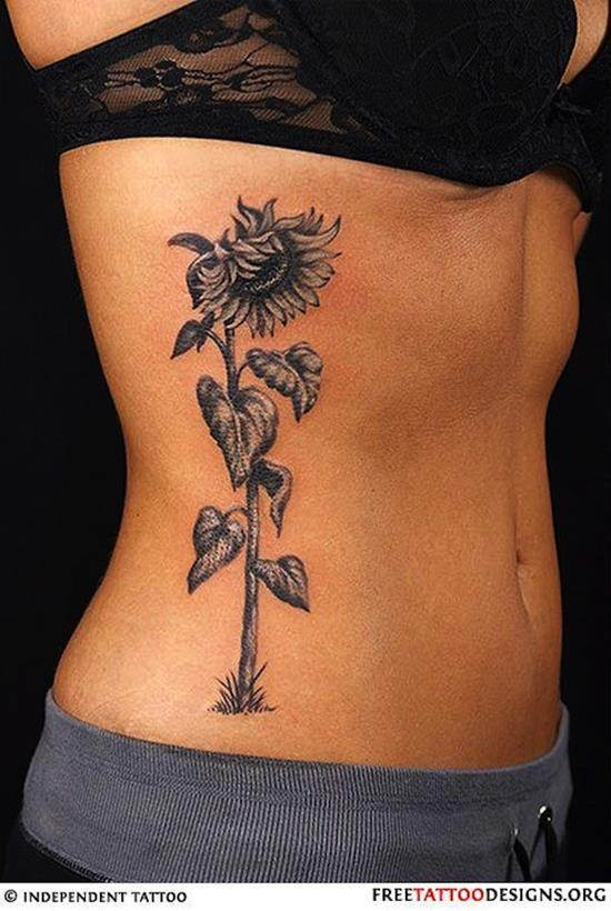 sunflower-tattoo-withering