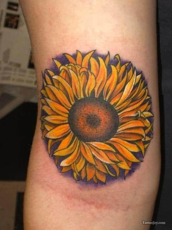 sunflower-tattoo-purple-outline