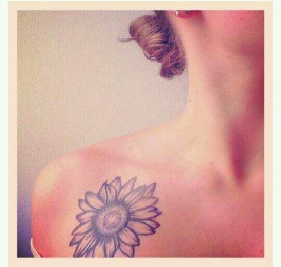 sunflower-tattoo-no-color