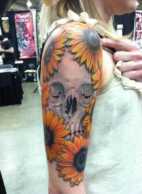 23-sunflower-and-skull-tattoo