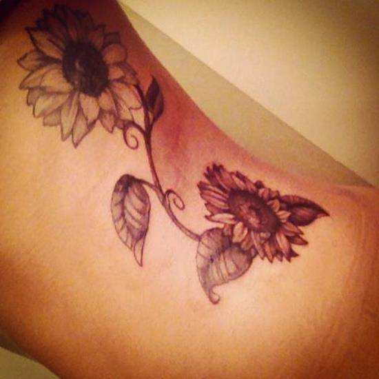 sunflower-tattoo-2