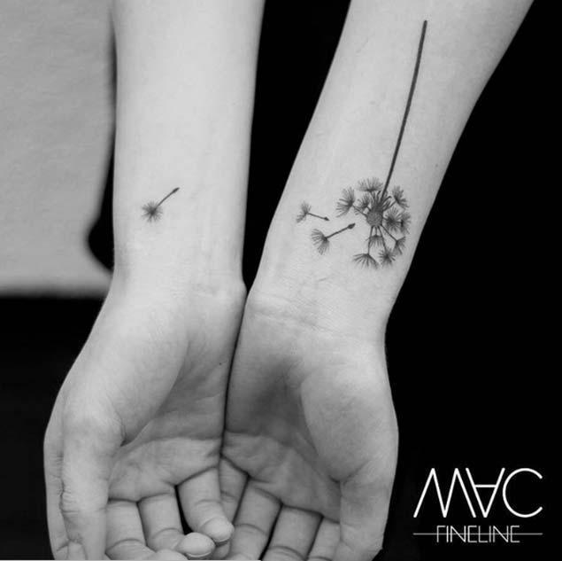 Joined Dandelion Tattoo by Stilbruch Tatowierungen