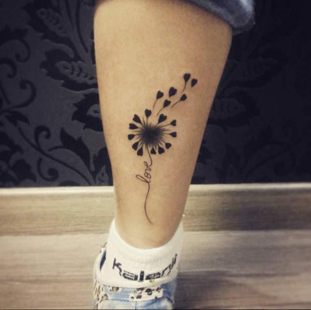 Cute Dandelion Tattoo by Paty Fedrigo