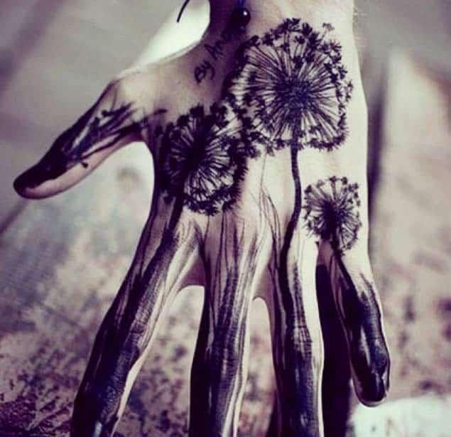 Dandelion Tattoo on Hand