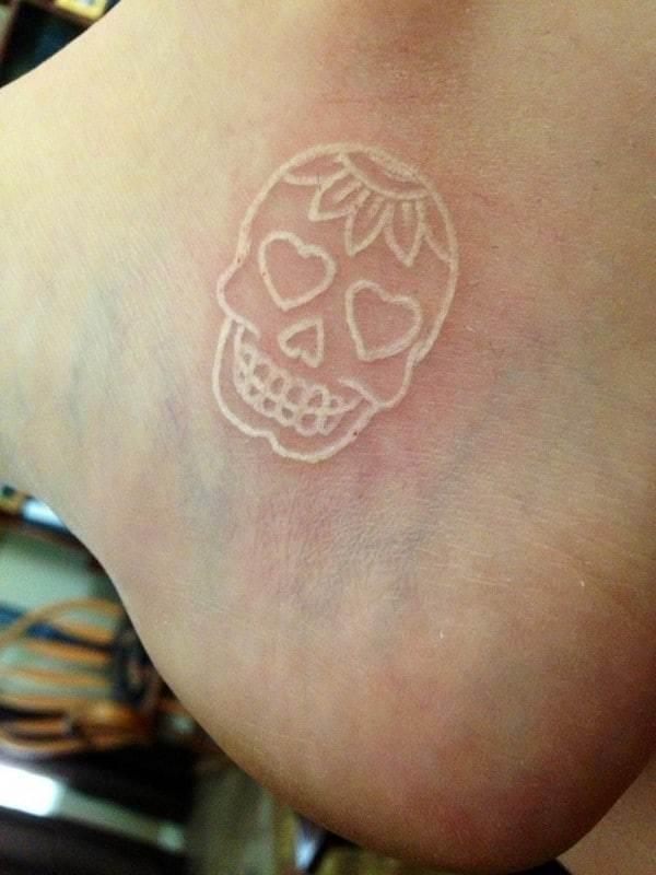 Sugar Skull Tattoo Designs White