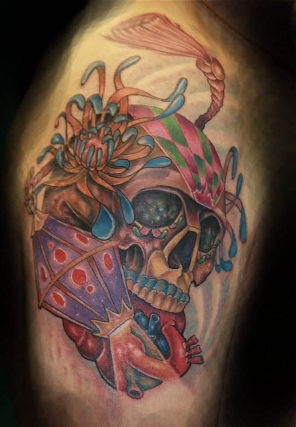 Elegant Mexican Sugar Skull Tattoo