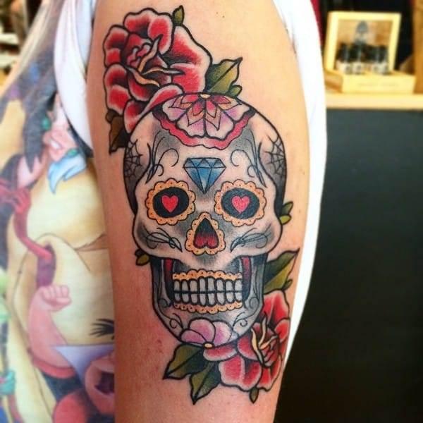 Sugar Skull Owl Tattoo Meaning