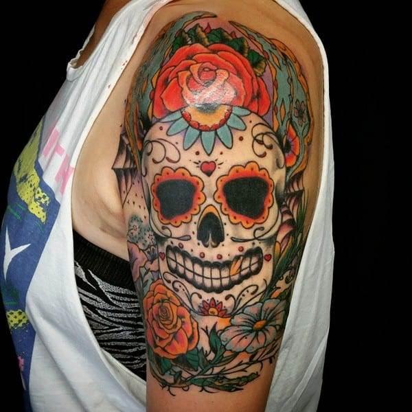 Sugar Skull Tattoo Designs Free