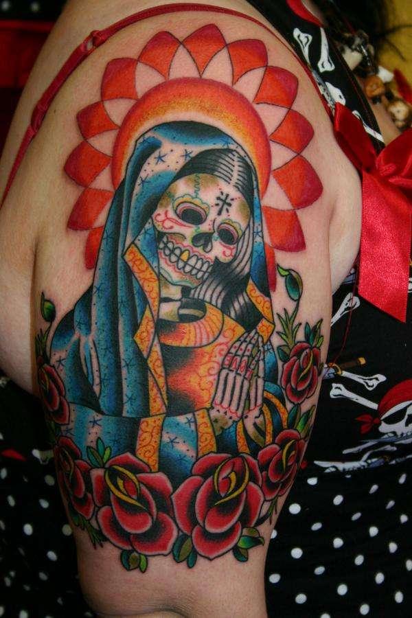 Nice Sugar Skull Tattoo