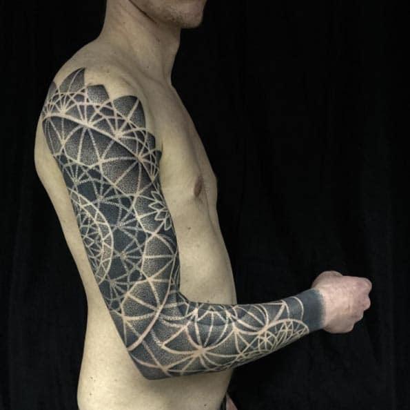 Dotwork Sacred Geometry Full Sleeve by Helsinki