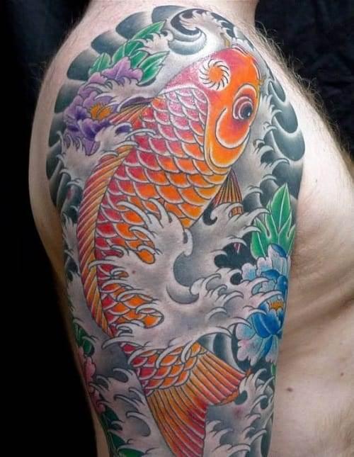 koi sleeve tattoo idea