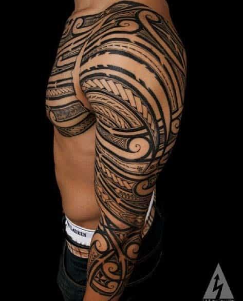 Polynesian Tribal Sleeve by Kenny Brown