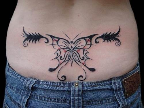 Butterfly Tribal Tattoos Design