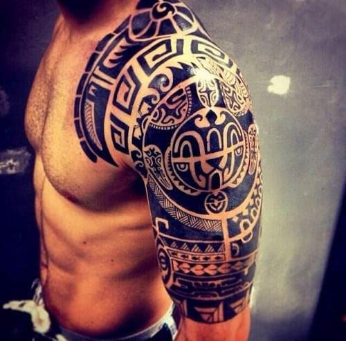 Shoulder and Arm Tribal Tattoos