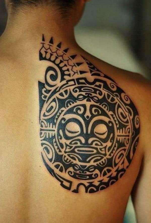 aztec chest tattoo